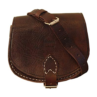 Genuine Moroccan Leather Small Saddle Bag Women s Crossbody Bag ... 4fa473efa3625