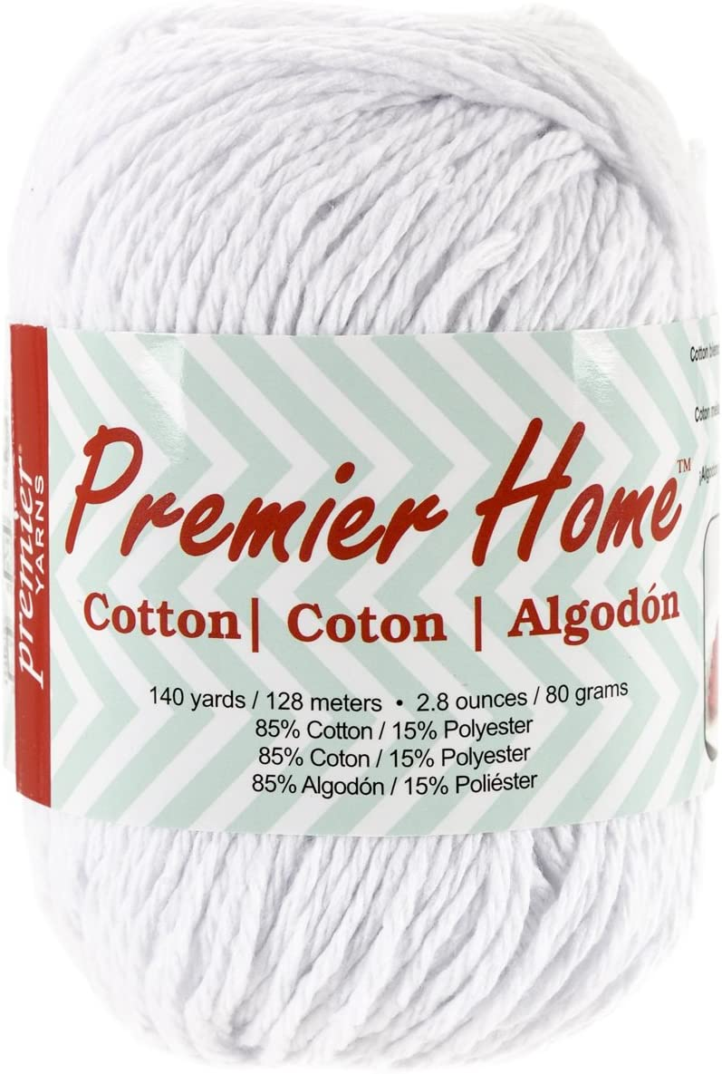 Premier Yarns Home Cotton Yarn, Solid White