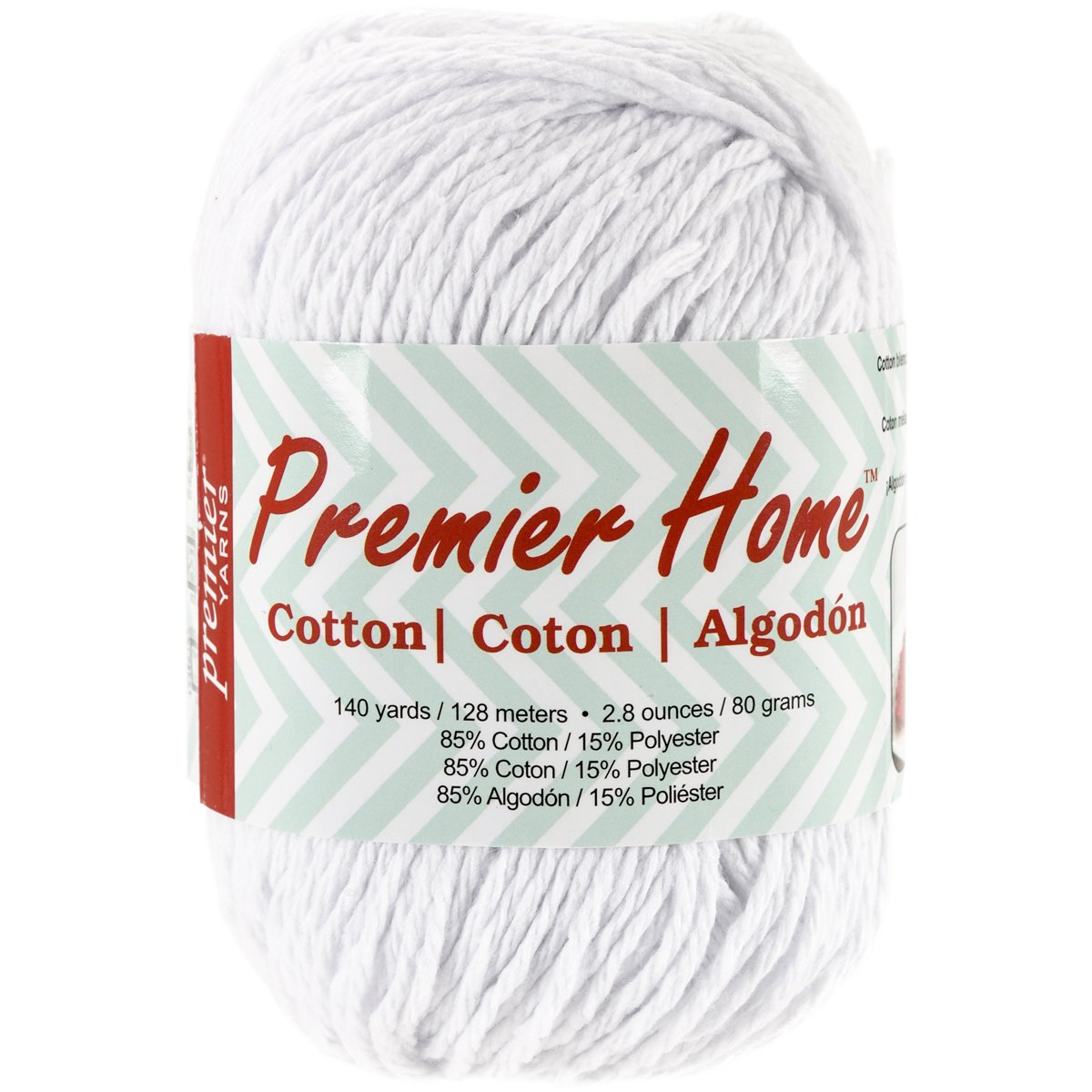 Solid-White Premier Yarns Home Cotton Yarn
