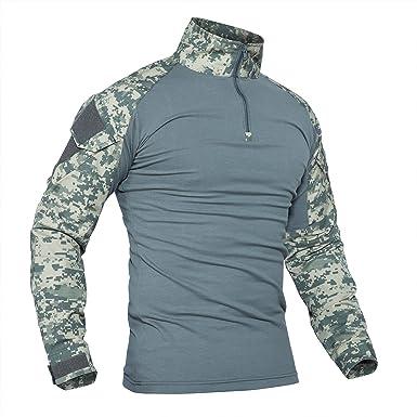 Antarctica la camisa de manga larga táctico camiseta rápida militar de asalto del ejército combate rápido asalto slim fit