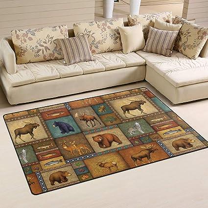 Amazon.com: Alfombra rústica para decoración del hogar, de ...