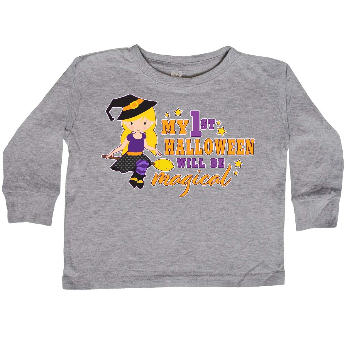 inktastic My 1st Halloween Will Be Magical with Toddler Long Sleeve T-Shirt
