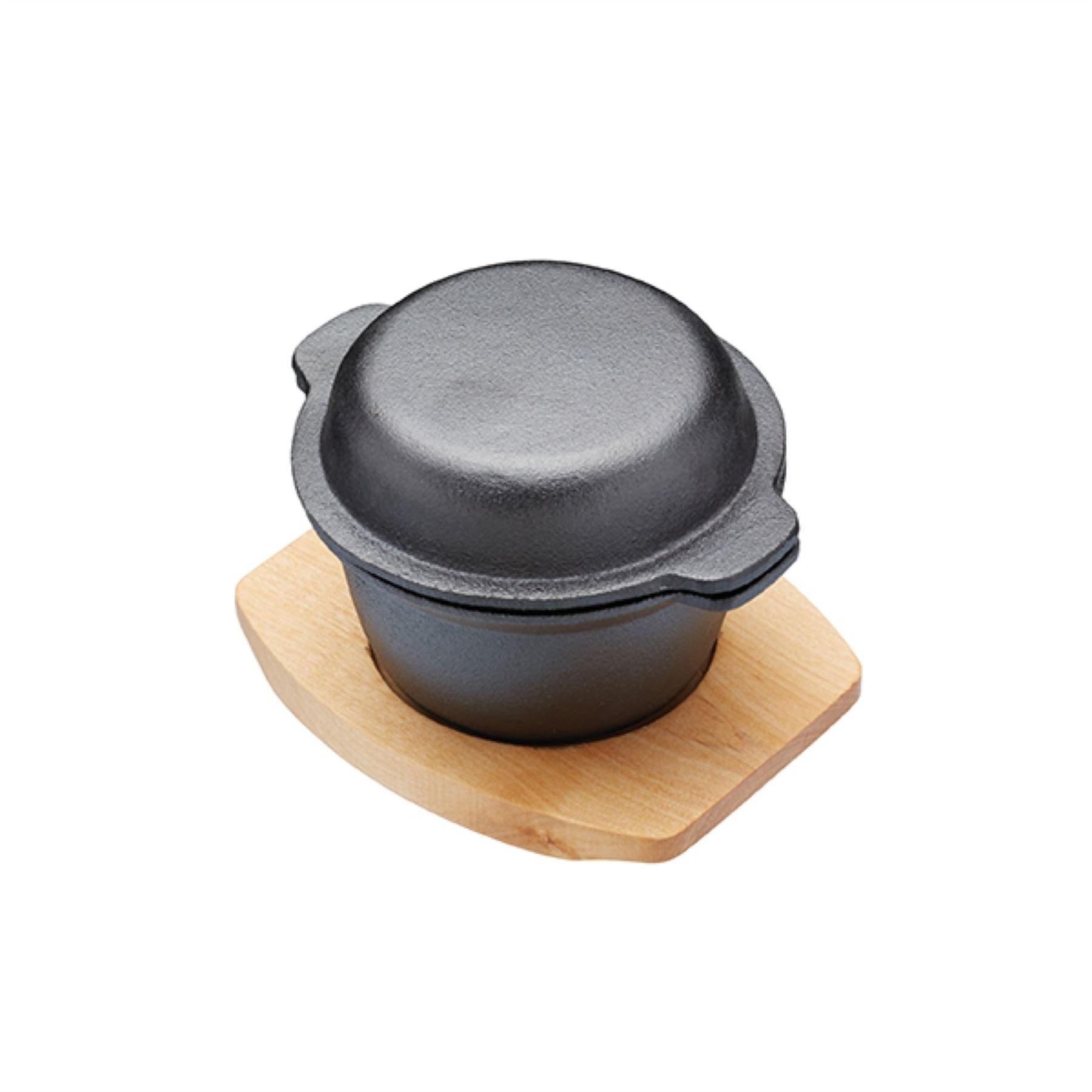 Kitchen Craft Masterclass Artesa Mini Covered Cast Iron Cooking Pot Artgarpot
