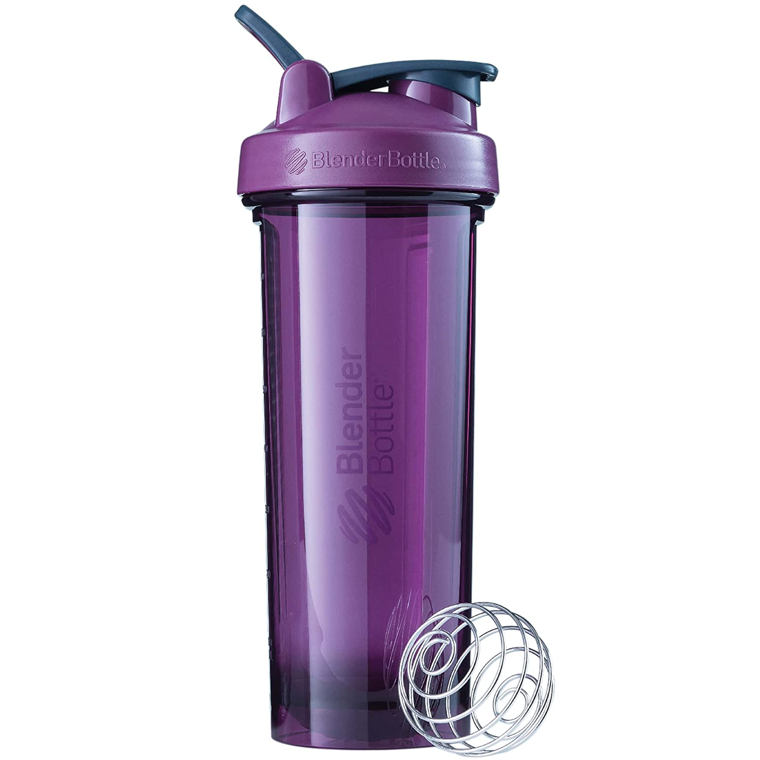 BlenderBottle Pro Series Shaker Bottle, 32-Ounce, Plum