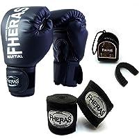 5276aaa99 Kit Boxe Muay Thai - Luva + Bandagem + Bucal Preto - Fheras