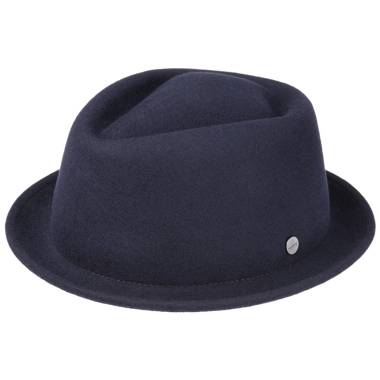 Lierys Blank Pork Pie Ladies/Men's | Felt Hat in S-XL | Pork Pie Made of 100% Wool Felt | A Hat for All Seasons | Wool Felt in Blue and Black