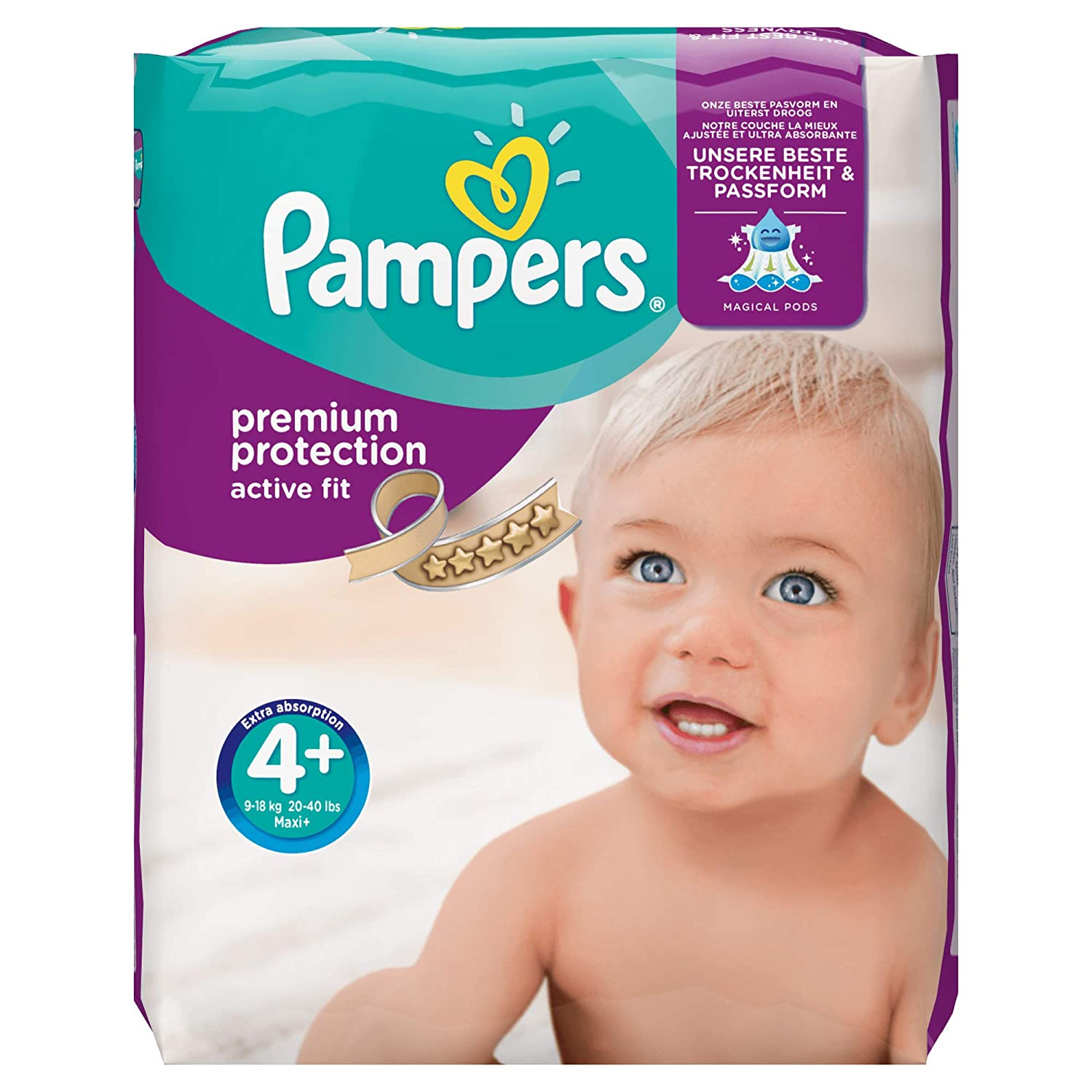 Pampers Pa/ñal active fit maxi 8-16kg 168 unidades