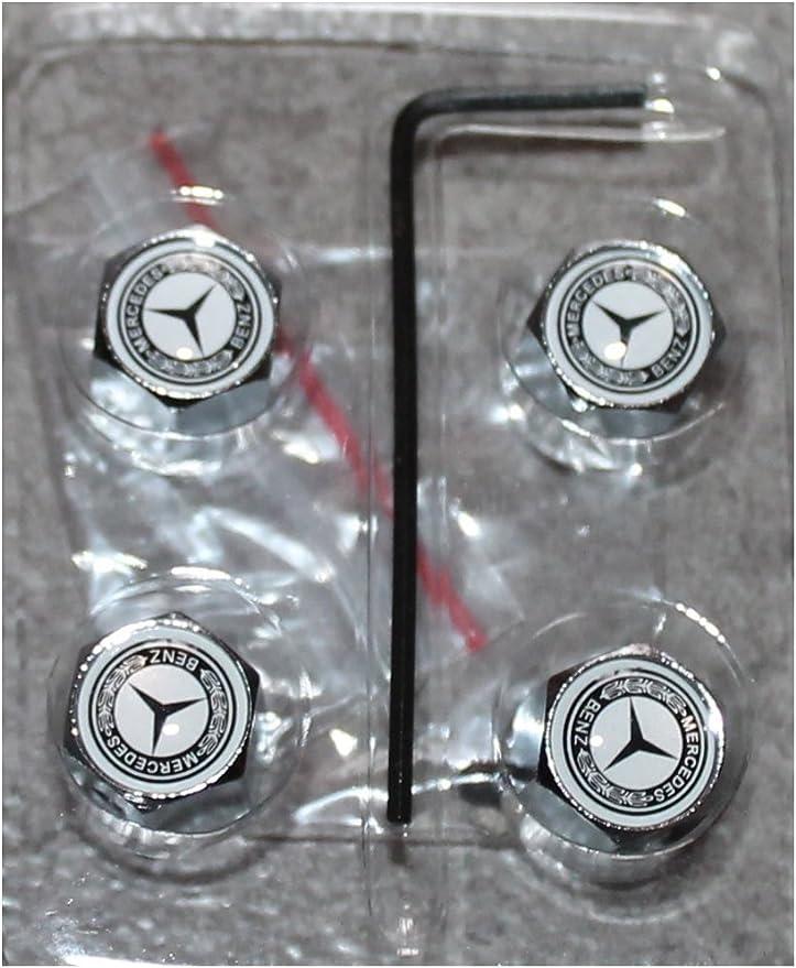 Ventilkappen Mit Diebstahlsicherung Mercedes Benz Logo 4 Stück Küche Haushalt