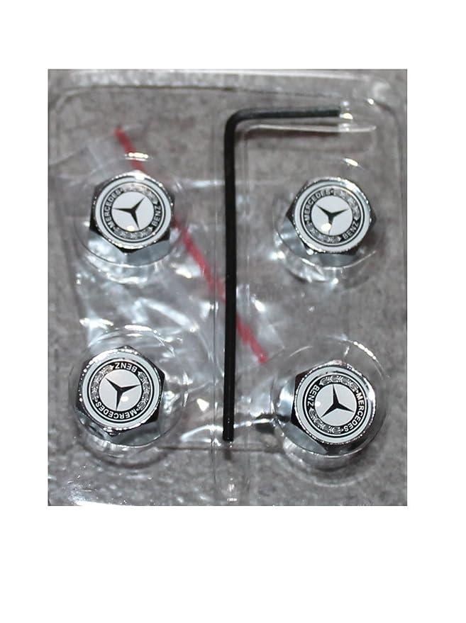 4 tapones de válvula con antirrobo Logo Mercedes Benz