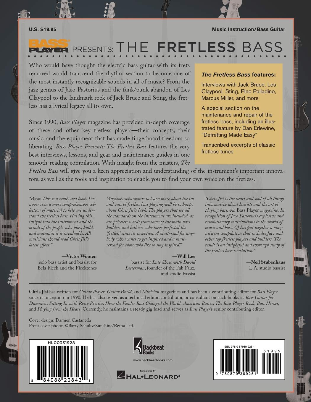 Bass Player Presents The Fretless Bass Play Instrumental Reference MUSIC BOOK