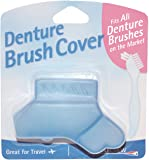 Denture Brush Cover - Fits All Denture Brushes (Blue)