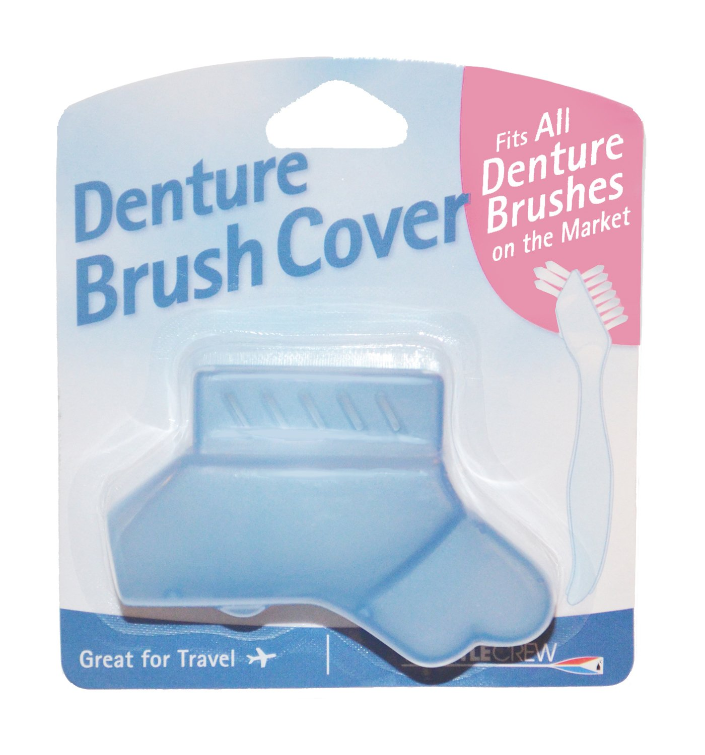 Denture Brush Cover - Fits All Denture Brushes (Blue) The Bottle Crew AX-AY-ABHI-71390
