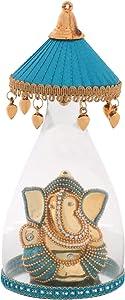 Itiha Blue Umbrella Ganesha Showpiece for Car Dashboard Ornament or Home Decor/Return Gift/Diwali Gift/House Warming Gift (8 inch)