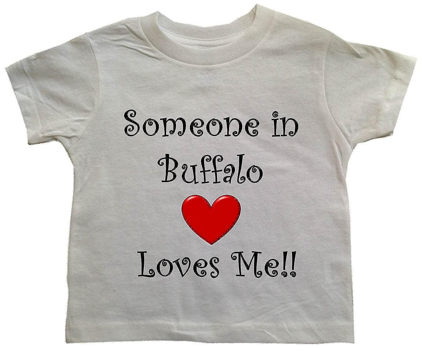 City-series BUFFALO TODDLER White Toddler T-shirt SOMEONE IN BUFFALO LOVES ME