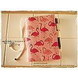 手帳カバーほぼ日手帳オリジナルサイズ対応A6手帳カバー ピンクのフラミンゴ
