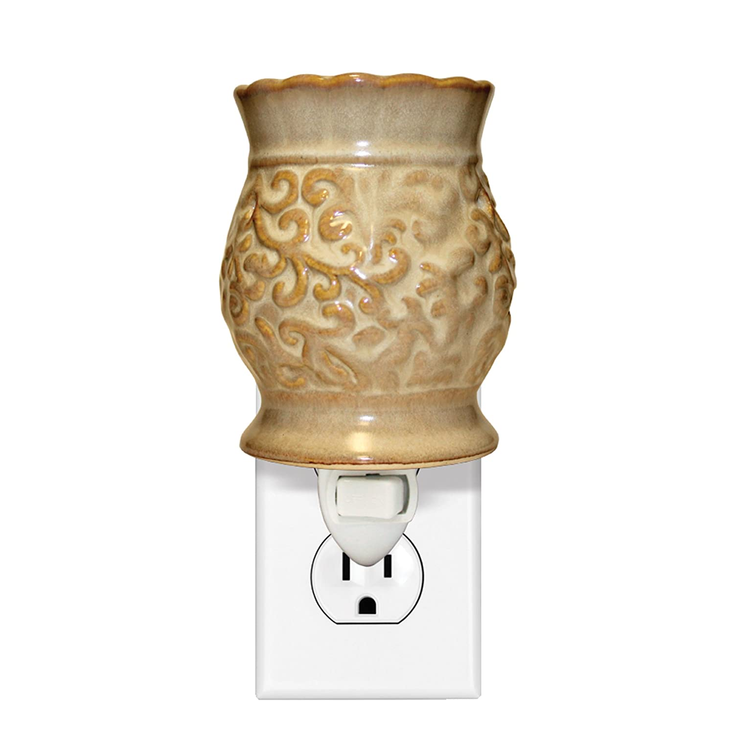 A Cheerful Giver Burgundy Tapestry Plug in Wax Melter CM28