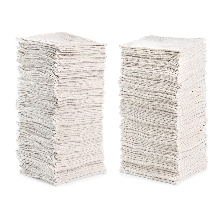 "Simpli-Magic 79142 Shop Towels 14""x12"", Pack of 150, White"