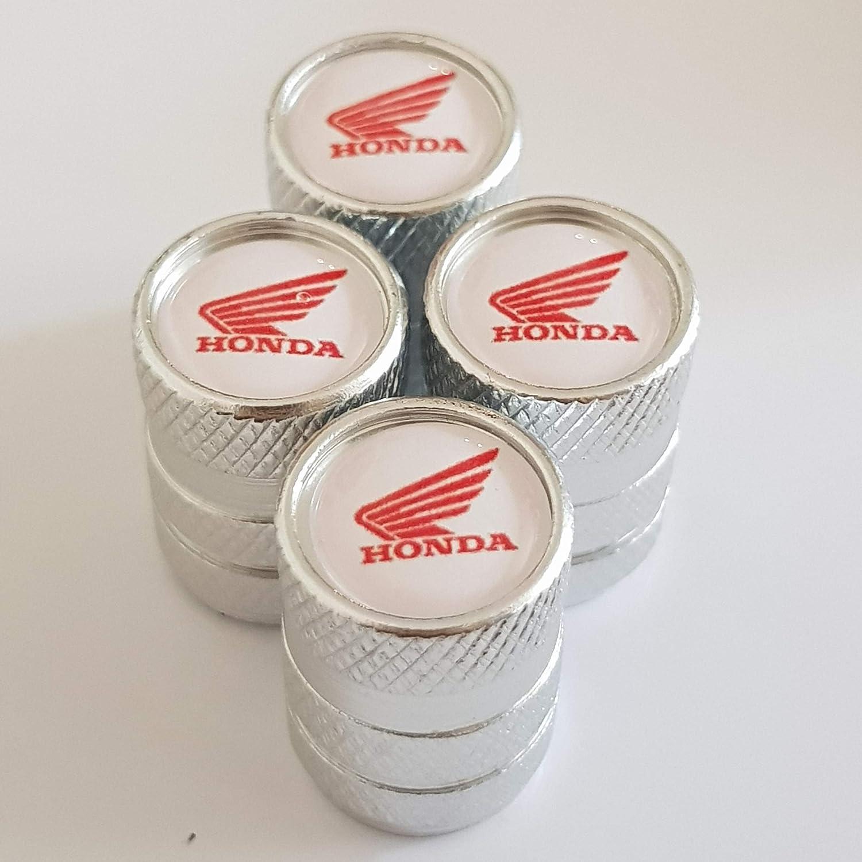3 Speed Demons HONDA Red alloy wheel valve Tyre Dust Caps Plastic Insides all models