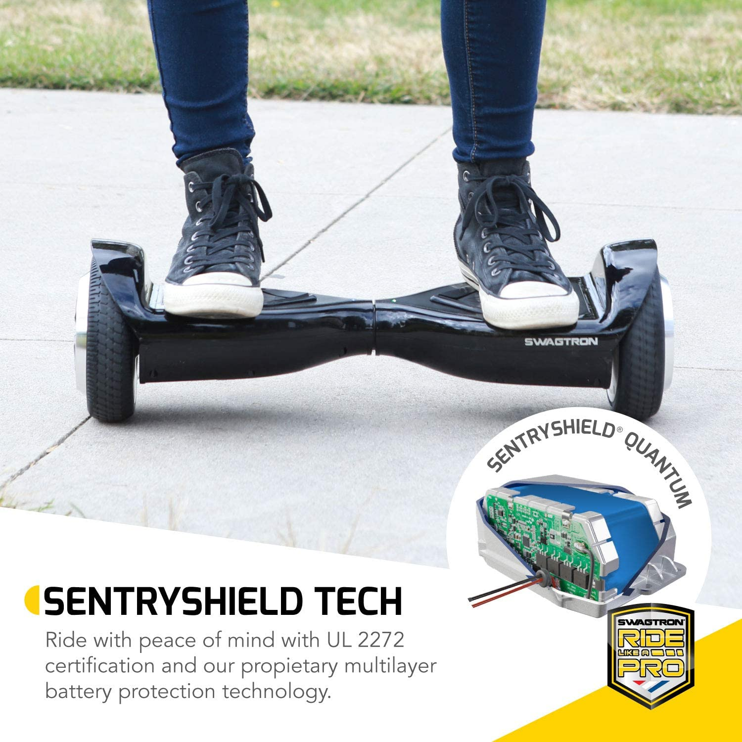 Swagtron Swagboard Hoverboard for Kids and Young Adults - 4