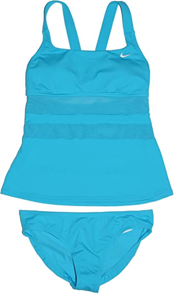 NWT AQUA GREEN Women/'s tankini swim bathing suit top Blue /& Black Small