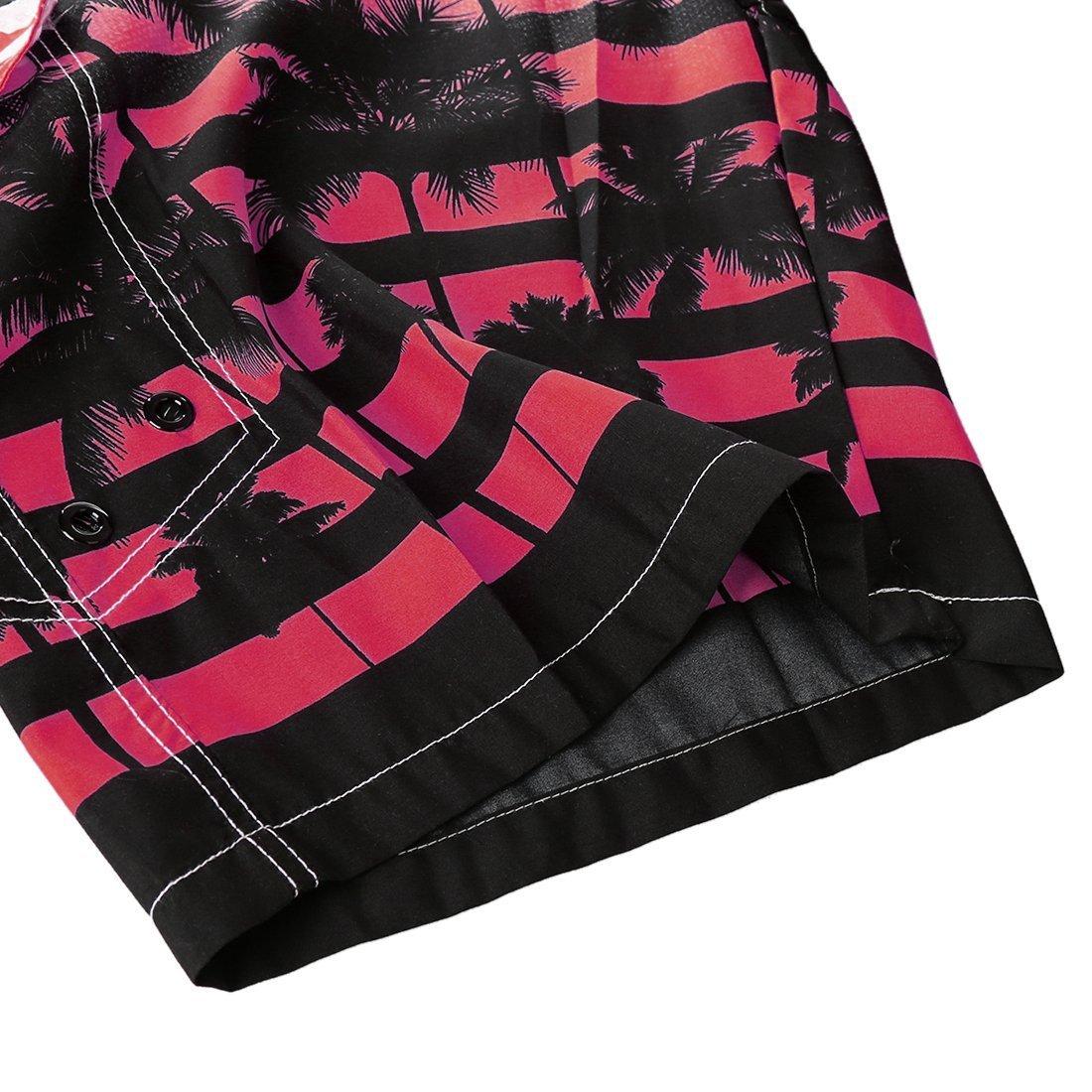 Mens Quick-Drying Beach Trunks Swimwear Coconut Tree Printing Pants Surfing Swimming Water Sports Board Shorts HDH Hawaiian Shorts