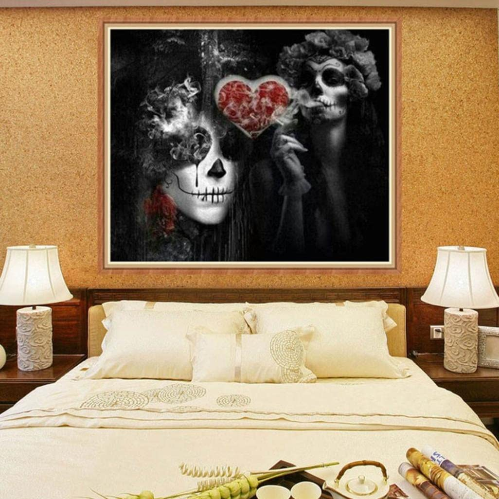 Kimanli 5D Diamond Paintings Rhinestone Pasted Embroidery DIY Diamond Painting Cross Stitch Skull Craft Home Decor