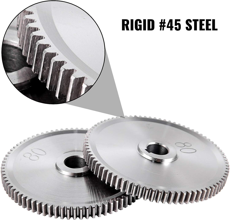 Conjunto de 27 pcs Metal Torno Engranajes para Mini Tornos y Fresadoras Modelo de Mini CJ0618 Herramienta Engranajes de Metal con Alta Precisi/ón F/ácil de Instalar VEVOR Engranajes de Torno de Metal
