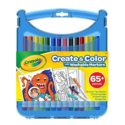 Crayola 04-0377 Create & Color Super Tips Kit SuperTips Washable Markers, Assorted: Toys & Games [5Bkhe2002223]