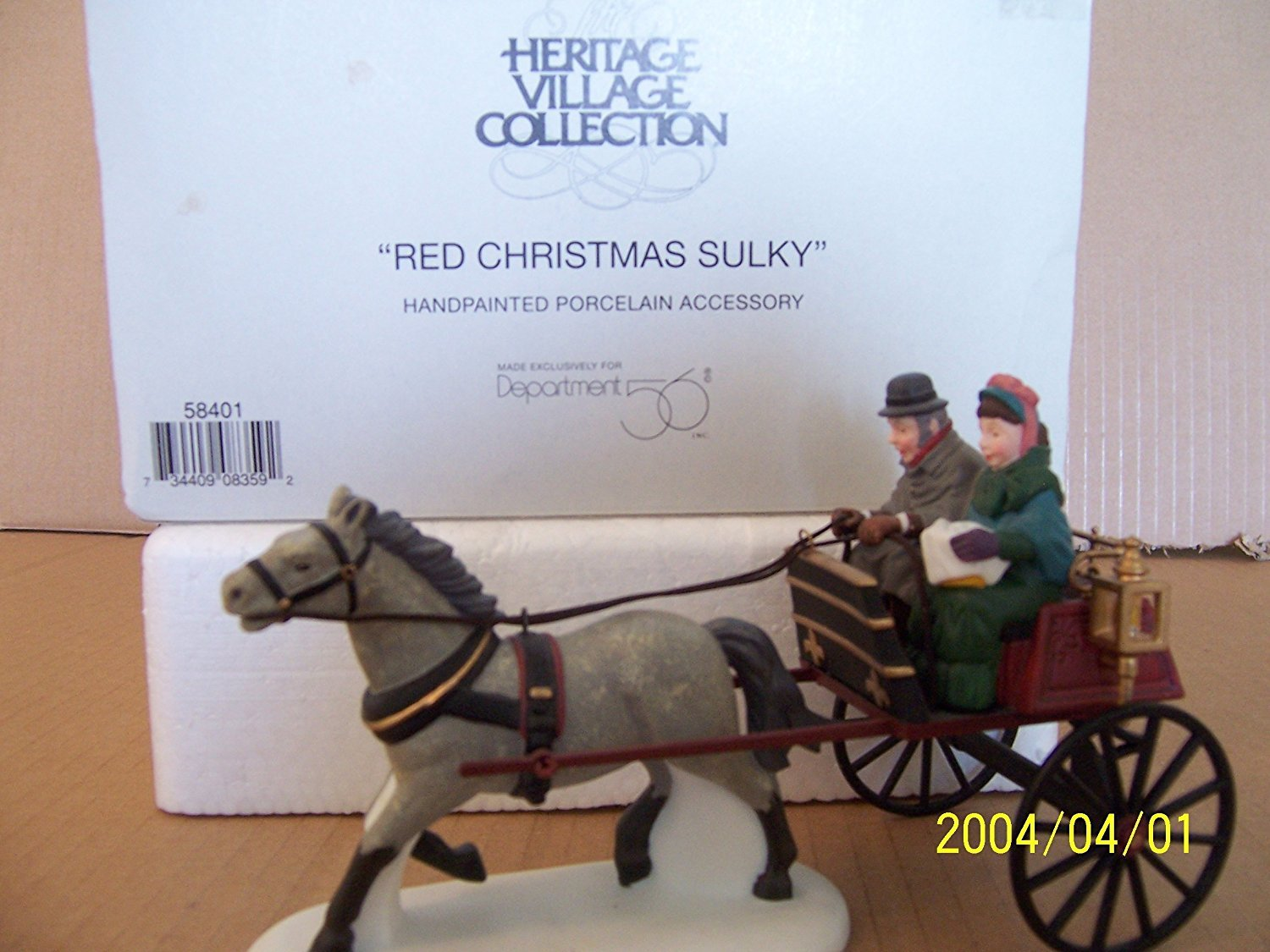 Dept.56-Dickens Accessory; Red Christmas Sulky