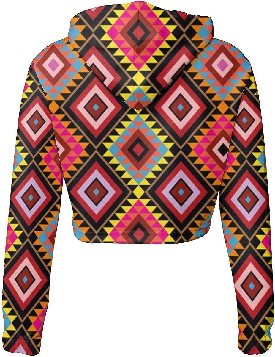 Native American Vector Pattern Women Hoodie Casual Sweatshirt Print Hood