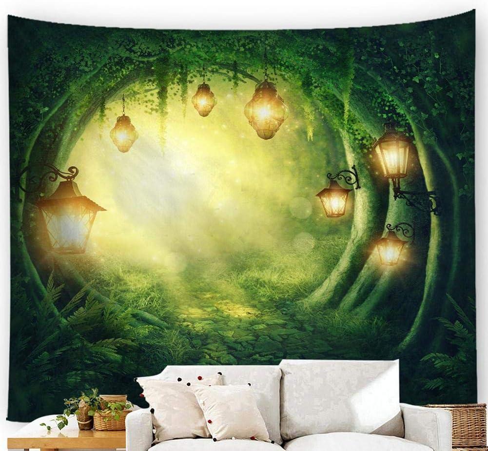 Salon Tissu D/écoratif Riosupply Tapisserie Murale Tapisserie Imprim/ée Esth/étique De La For/êt De Chenguang,Bureau Chambre Hall