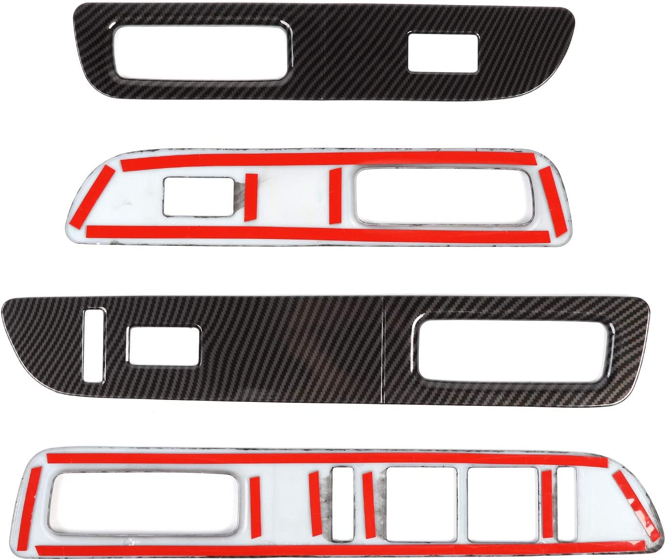 Carbon Fiber Grain Voodonala for F150 Window Lift Panel Switch Trim Covers for Ford F150 2009-2014
