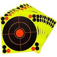 koolsoo 8.3inch Reactive Shooting Target Bright Fluorescent Hunt Training Aids Splatter Paper Targets Self-Adhesive…