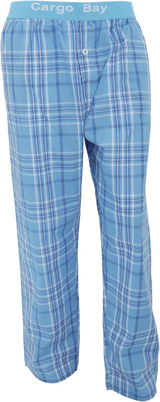Cargo Bay Pantalon de pyjama tiss/é /à carreaux facile dentretien pour homme