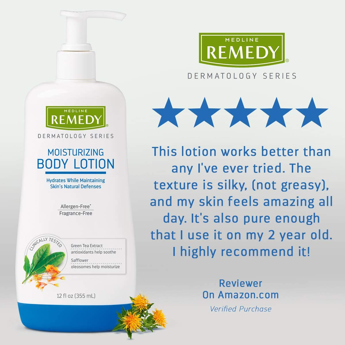 Remedy Dermatology Series Body Lotion for Dry Skin, 8 Oz, Unscented Lotion, paraben Free, Lotion for Sensitive Skin: Health & Personal Care