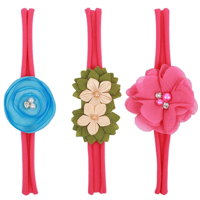 3PCS Flower Headband Set...