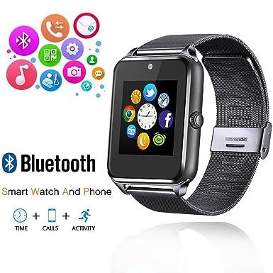 ishenzu Wearable Smartwatch teléfono Metal correa de reloj soporta Micro SIM Tarjeta Micro SD tarjeta con cámara WhatsApp ...