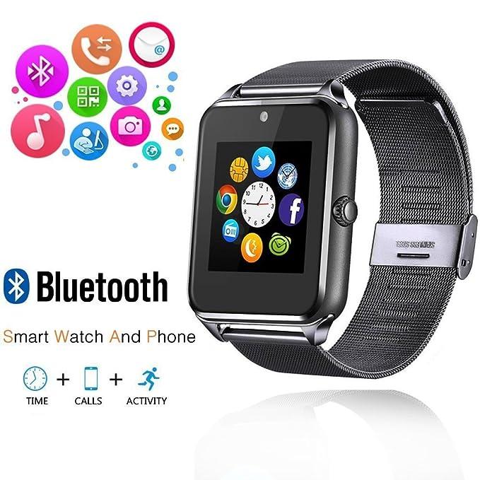 ishenzu Wearable Smartwatch teléfono Metal correa de reloj ...
