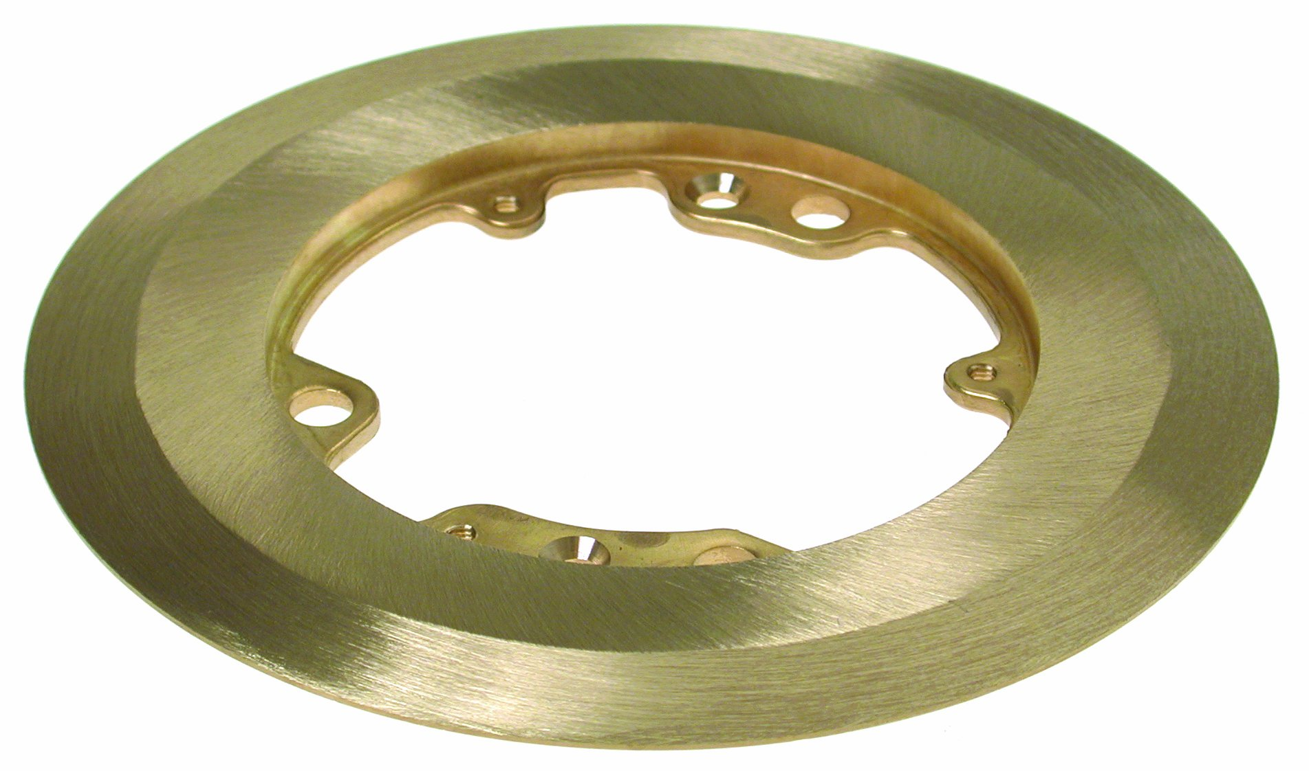 Hubbell-Raco 6235 6-1/4-Inch Round Brass Carpet Flange