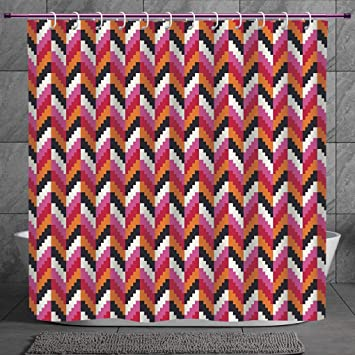 Cute Luggage Tag Geometric,Pixel Art Herringbone Good-looking