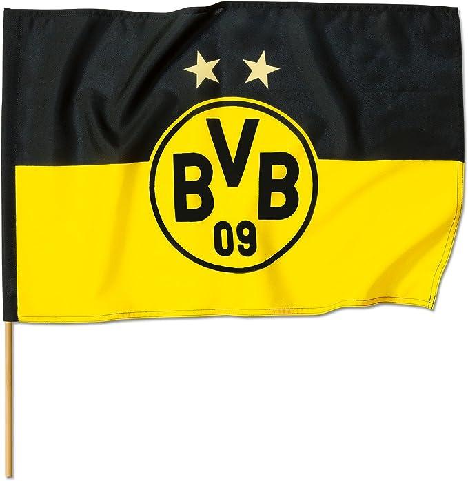 Borussia Dortmund BVB 14134100 Canevas avec Logo Noir//Jaune 90 x 60 cm