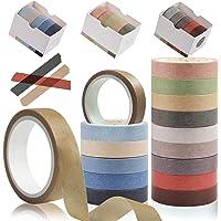 15 rollen natuurlijke Washi Tape Set, Kalolaire Kleurrijke Decoratieve Masking Tape Craft Tape voor DIY Decor Planners…