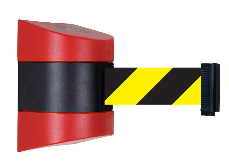 Tensabarrier 897-15-S-21-NO-D4X-C Standard Wall Mount Red Caps No Custom Black//Yellow Chevron Webbing Standard Belt End 15 15/' Tensator