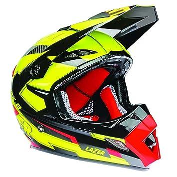 Lazer MX8-Carbon GeoTech amarillo fluo/rojo casco