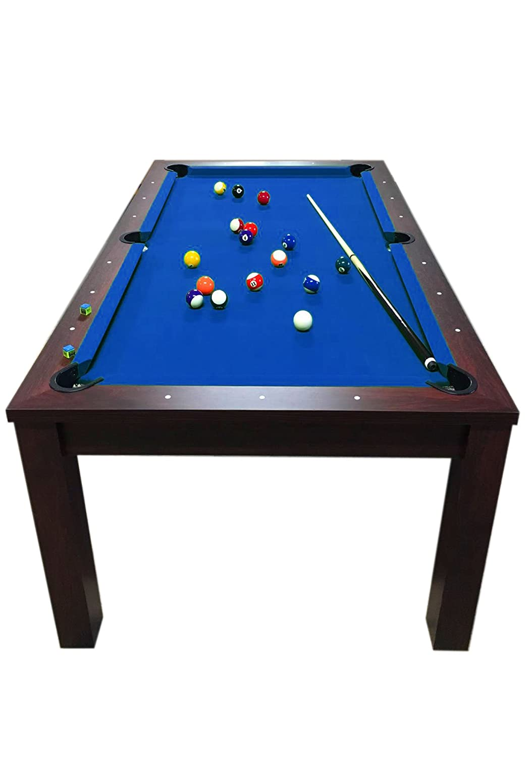 grafica ma ro srl 7 ft blue pool table billiard indoor with coverage rh amazon co uk