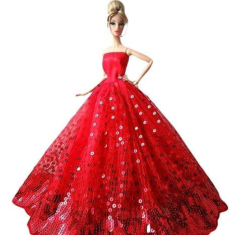 Creation® magnifiques Mode de mariage Parti robe Robes et vêtements pour  Barbie Doll Xmas Gift