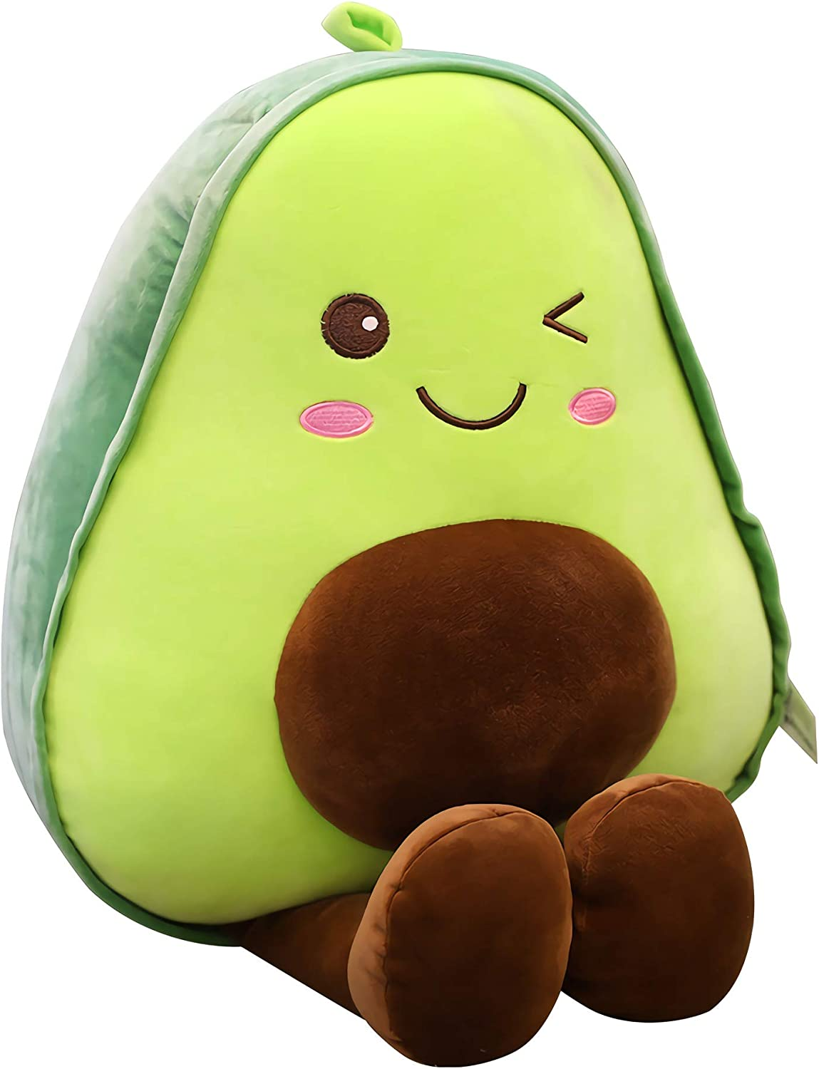 "JackDuck Cute Avocado Plush Toy Stuffed Pillow 11.8"" Best Gift for Kids"