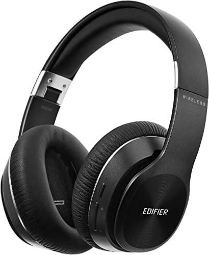 Edifier W820BT Bluetooth Headphones – Foldable Wireless Headphone with 80-Hour Long Battery Life – Black