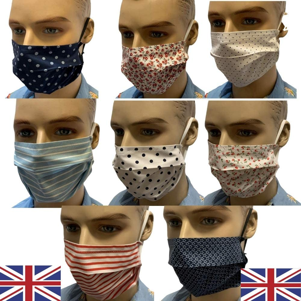 Unisex Men Womens Fashion Face Scarf Washable Reusable Breathable Nose Mouth UK