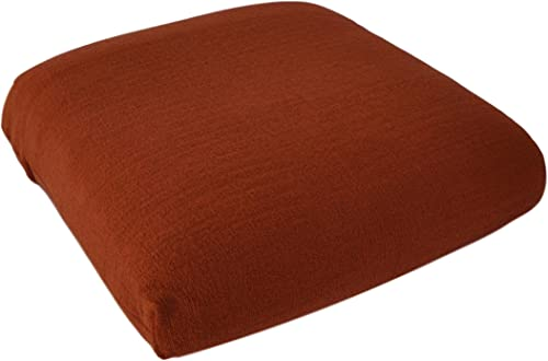 CushyChic Outdoors Terry Slipcovers for Two Dining Seat Cushions in Burnt Orange